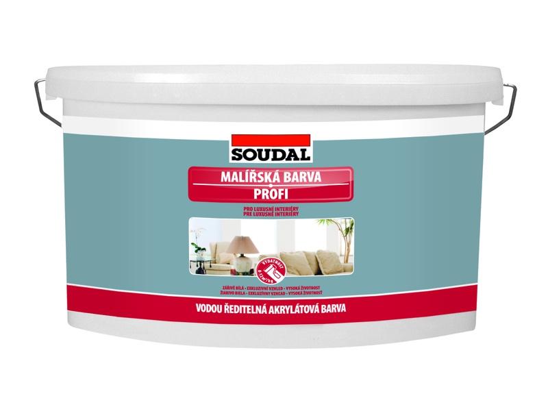 Vnitřní malířská barva Soudal Profi 7,5 kg bílá