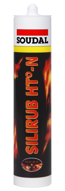 Soudal Silirub HT-N černý protipožární tmel 310 ml
