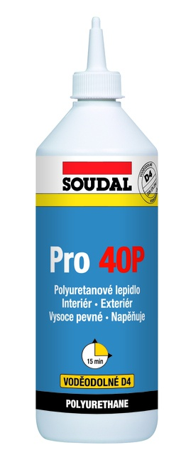 Soudal polyuretanové lepidlo na dřevo PRO 40P 750g