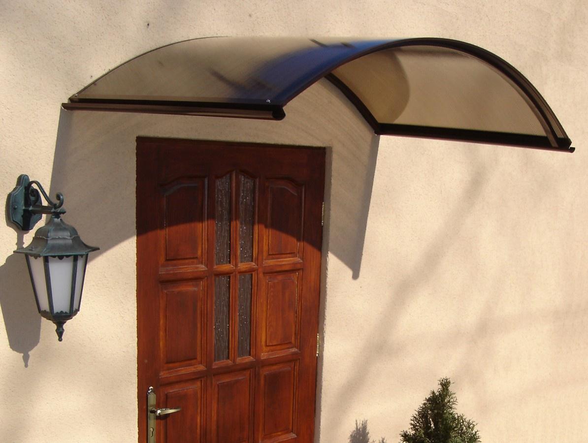 GUTTA Vchodová stříška Rondo N bílá - 1,6x0,7x0,285m
