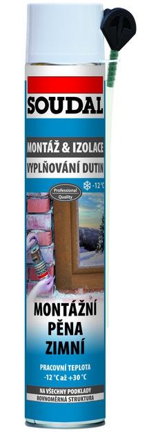Soudal Montážní pěna zimní trubičková 750 ml