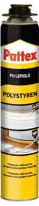 Pattex Polystyren PU lepidlo 750 ml pistolové