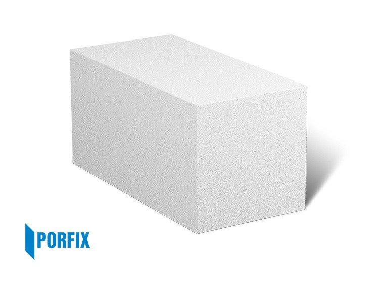 Porfix písková tvárnice 250x250x500 mm hladká P2-440