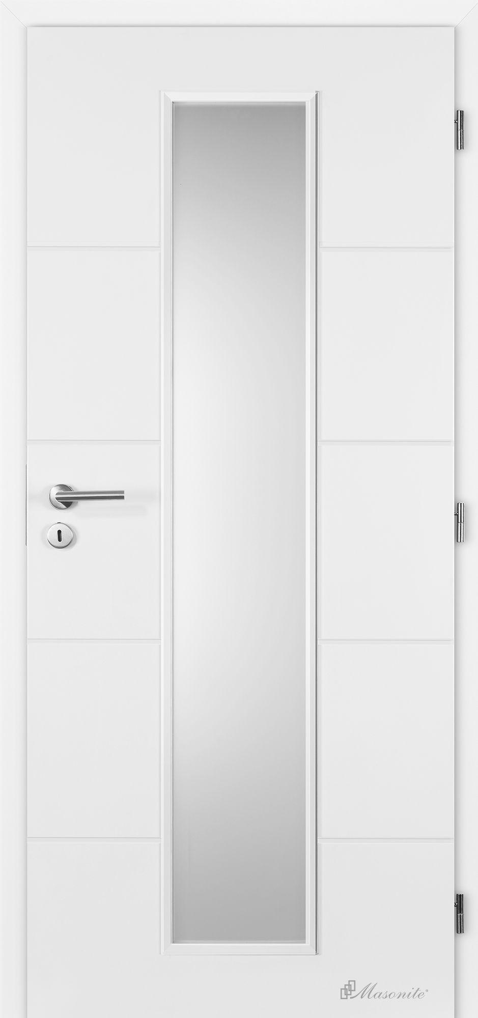 Masonite interiérové dveře QUATRO Linea hladké bílé 60 cm, voština