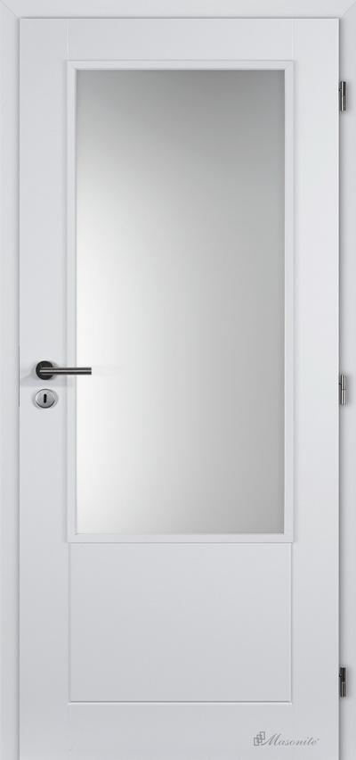 Masonite interiérové dveře DAKOTA SKLO hladké bílé 60 cm, voština
