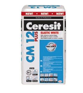 Lepidlo pro mramor a mozaiku Ceresit CM 12 Plus Elastic White 25 kg