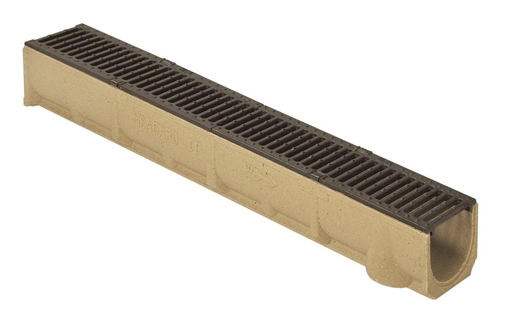MEA Water MEA odvodňovací žlab SELF LINE 100/110 s litinovým roštem B125 kN 1 m