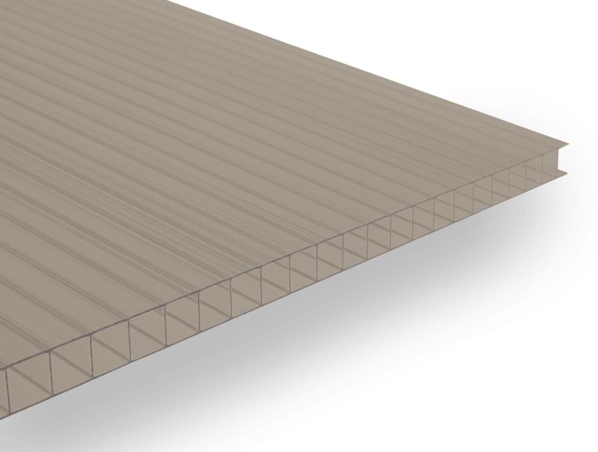 Polykarbonátová deska Guttagliss DUAL BOX 8 mm bronz 1,00x1,05 m