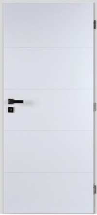 Masonite Interiérové dveře QUATRO hladké bílé 60 cm, voština