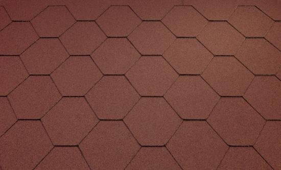 Katepal střešní asfaltový šindel CLASSIC KL červená