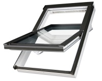 Střešní okno Fakro PTP-V U3 01 55x78 cm plastové, bílé