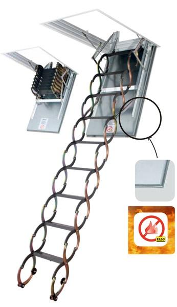 Půdní schody Fakro LSF 300 50x70 cm protipožární stahovací