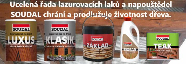 Lazury a napouštědla SOUDAL za jedinečné ceny