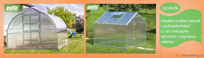 Akční nabídka na skleníky Gutta